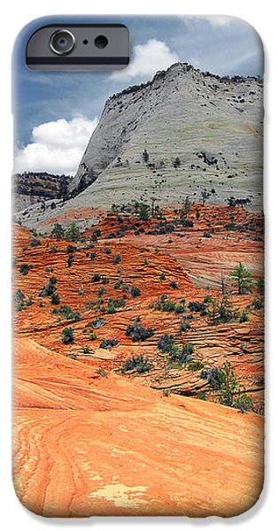 Zion National Park as a storm rolls in iPhone Case by Christine Till
