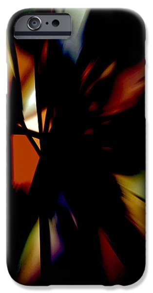 Blue Abstracts iPhone Cases - Zion VII iPhone Case by John Neumann
