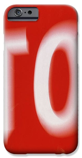 Zoom-effect Photo Of A Roadside Stop Sign iPhone Case by Tony Craddock