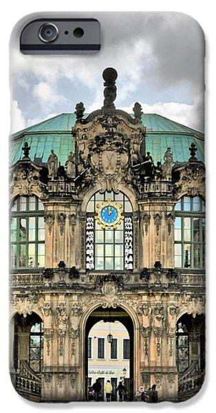 Deutsch iPhone Cases - Zwinger Dresden - Carillon Pavilion - Caution fragile iPhone Case by Christine Till