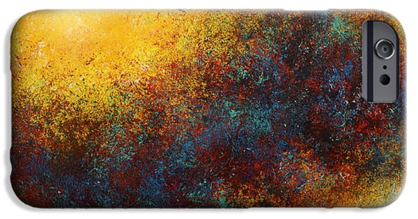 Cosmic Paintings iPhone Cases -   Children of the Sun  iPhone Case by Michael Lang