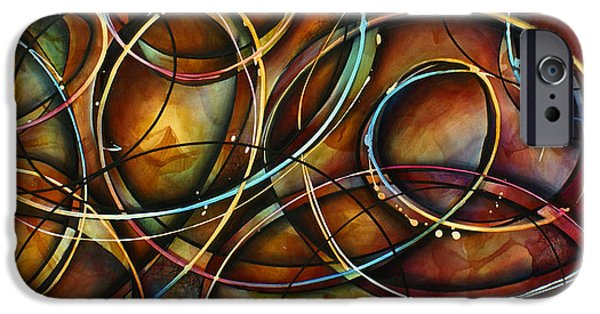 Abstract Movement iPhone Cases -   Dizzy  iPhone Case by Michael Lang