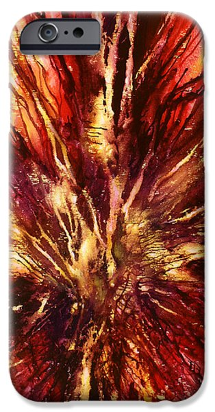 Abstract Expressionist iPhone Cases -   Inferno iPhone Case by Michael Lang