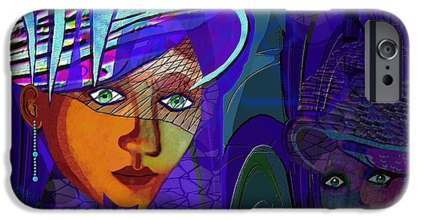 Strange iPhone Cases -  048 - Rhapsody in Blue ...  iPhone Case by Irmgard Schoendorf Welch