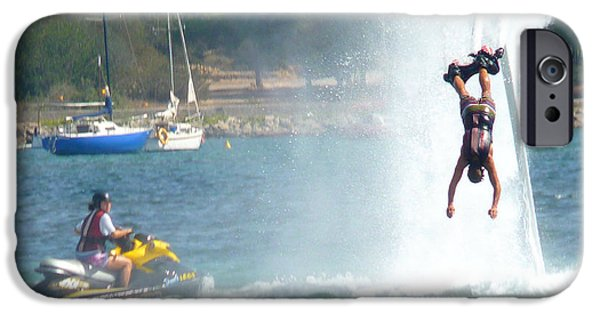 Jet-propelled iPhone Cases - # 2 Skyboarding Ibiza Spain iPhone Case by Alan Armstrong