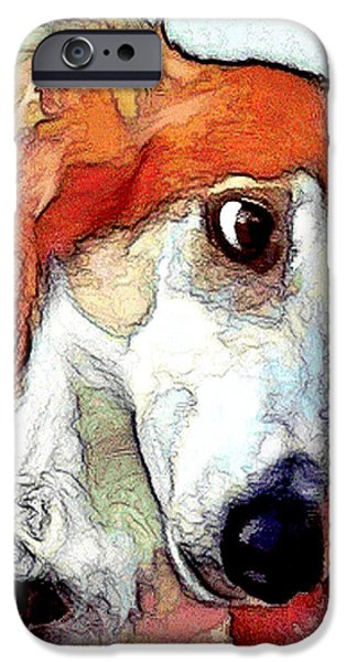 Puppies Digital iPhone Cases - # 21 Saluki dog iPhone Case by Alan Armstrong