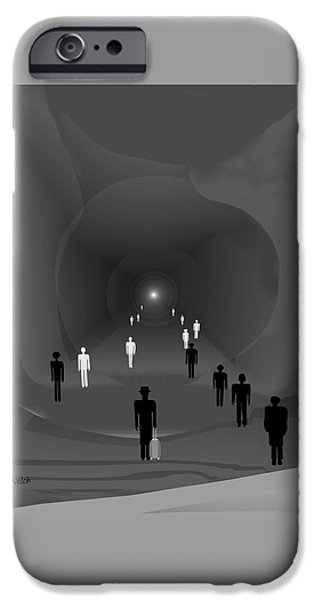 Irmgard iPhone Cases -  249 - The light at the end of the tunnel   iPhone Case by Irmgard Schoendorf Welch