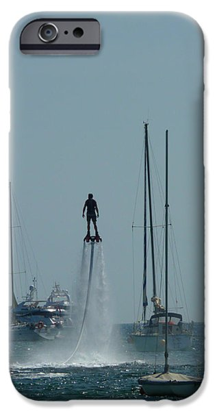 Jet-propelled iPhone Cases - # 3 Skyboarding Ibiza Spain iPhone Case by Alan Armstrong
