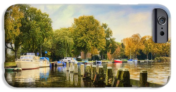 Willow Lake iPhone Cases -  Autumn Day iPhone Case by Nadia Sanowar
