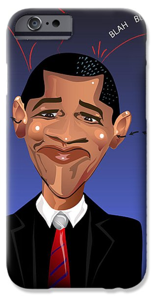 Barack Obama The President of the United States of America iPhone Case by Remy Francis