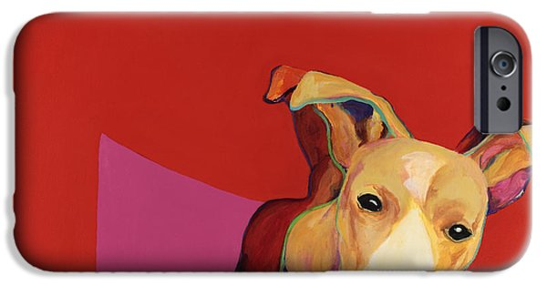 Jack Russell iPhone Cases -   Beggar iPhone Case by Pat Saunders-White