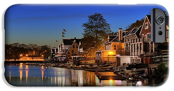 Schuylkill iPhone Cases -  Boathouse Row  iPhone Case by John Greim