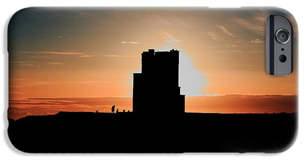 Ocean Sunset iPhone Cases -  Briens Tower At Sunset iPhone Case by Aidan Moran