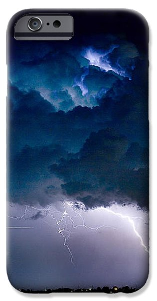 Clouds of Light Lightning Striking Boulder County Colorado iPhone Case by James BO  Insogna