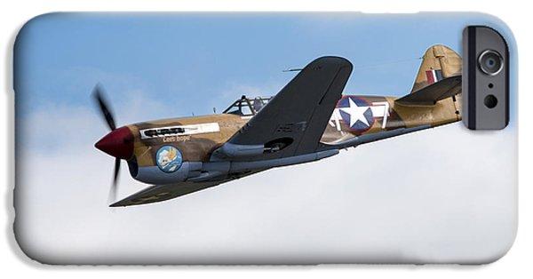 Curtiss iPhone Cases -  Curtiss P-40F Warhawk iPhone Case by J Biggadike