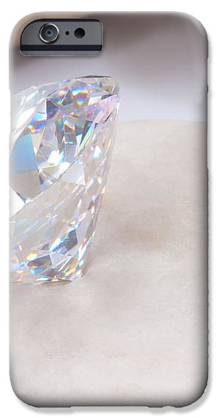 diamond on white stone iPhone Case by ATIKETTA SANGASAENG