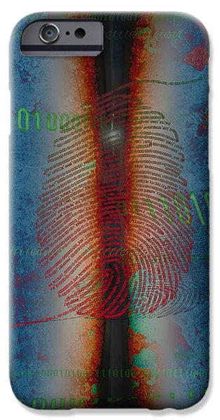 """digital Abstract"" iPhone Cases -  Dig1ts iPhone Case by Francois Domain"