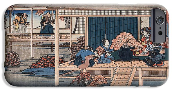 Treasury iPhone Cases -  Envoys from the Shogun Approach Lady Kaoyo  iPhone Case by Hiroshige