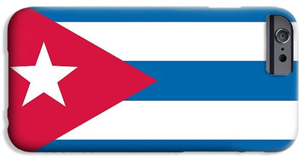 Flag Drawings iPhone Cases -  Flag of Cuba iPhone Case by Unknown
