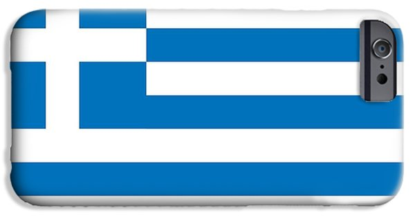 Flag Drawings iPhone Cases -  Flag of Greece iPhone Case by Unknown