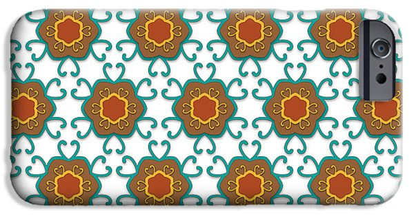 Seamless Tapestries - Textiles iPhone Cases -  Floral Medieval Pattern iPhone Case by Jozef Jankola