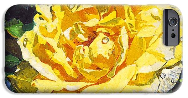 Plein Air iPhone Cases -  Golden Rain iPhone Case by David Lloyd Glover