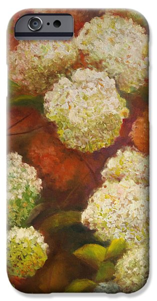 Chatham Paintings iPhone Cases -  Hydrangea Gardens iPhone Case by Karen Kennedy Chatham