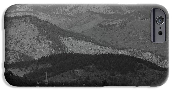 Asphalt iPhone Cases -  I-70 Mountain Corridor  iPhone Case by Fiona Kennard