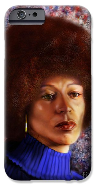 Impassable Me - Angela Davis1 iPhone Case by Reggie Duffie