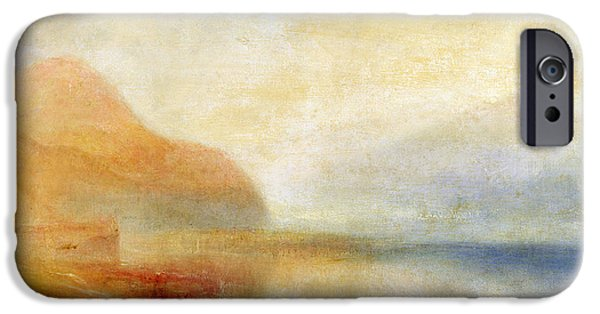 Seascape iPhone Cases -  Inverary Pier - Loch Fyne - Morning iPhone Case by Joseph Mallord William Turner