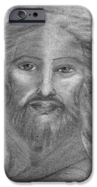 Son Of God Pastels iPhone Cases -   Jesus Divine Love iPhone Case by Jennifer Kamadon