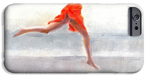 Ballet Drawings iPhone Cases -  Juno on the Beach iPhone Case by Lincoln Seligman