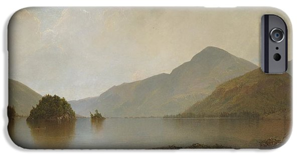 Kensett iPhone Cases -  Lake George iPhone Case by Celestial Images