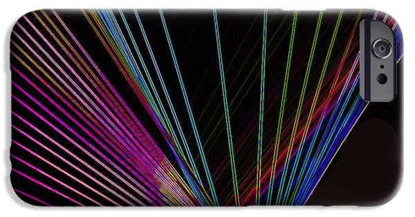 Technology iPhone Cases -  Laser Abstract iPhone Case by Sheela Ajith