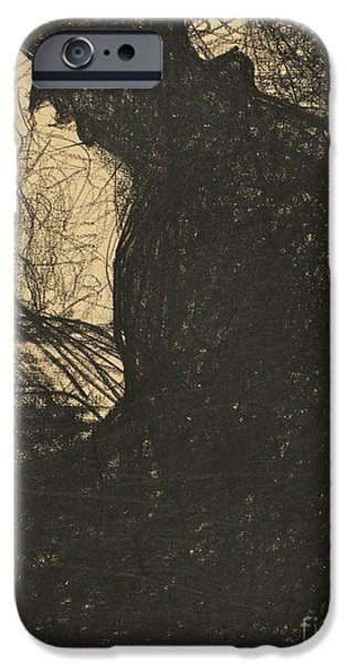 Seurat iPhone Cases -  Liseur iPhone Case by Georges Seurat