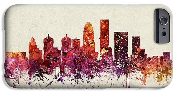 Louisville iPhone Cases -  Louisville Cityscape 09 iPhone Case by Aged Pixel