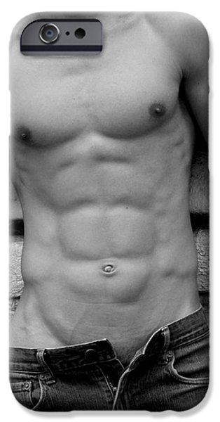 male abs iPhone Case by Mark Ashkenazi
