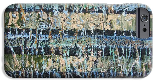 Abstract Expressionist iPhone Cases -  Mangrove Swamp iPhone Case by Christopher Chua