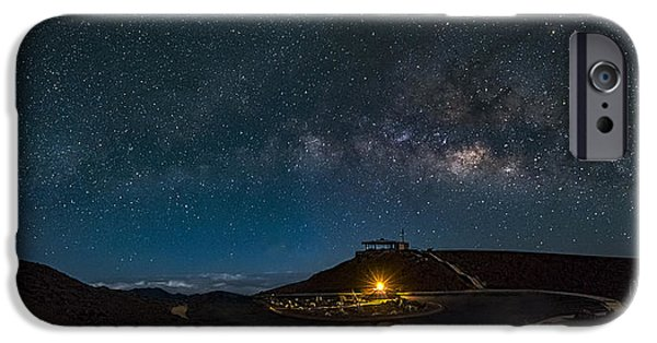 Constellations iPhone Cases -  Milky Way Over Haleakala iPhone Case by David Attenborough