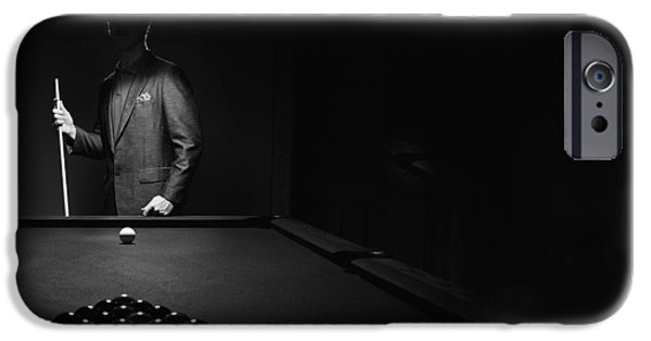 Practise iPhone Cases -  Mystery Pool Player Behind Rack Of iPhone Case by Richard Wear