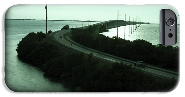 Diy iPhone Cases -  Photography of roads n baches 90 miles south of Miami on the island chain of Islamorada iPhone Case by Navin Joshi