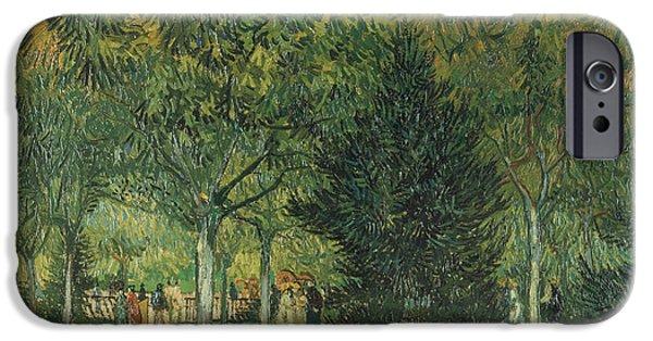 Arles iPhone Cases -  Promenaders iPhone Case by Vincent van Gogh