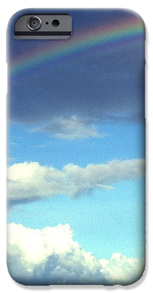 Rainbow over El Morro Fortress iPhone Case by Thomas R Fletcher