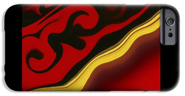 Red Abstract iPhone Cases -  Red And Black Abstract  iPhone Case by Sheela Ajith