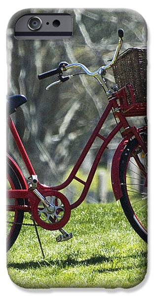 Red Bicycle in the Country iPhone Case by Anahi DeCanio