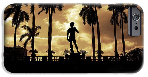 Michelangelo iPhone Cases -  Replica of the Michelangelo statue at Ringling Museum Sarasota Florida iPhone Case by Mal Bray