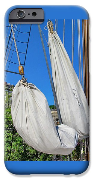 Sailing iPhone Cases -  Sail Down iPhone Case by Barbara Zahno