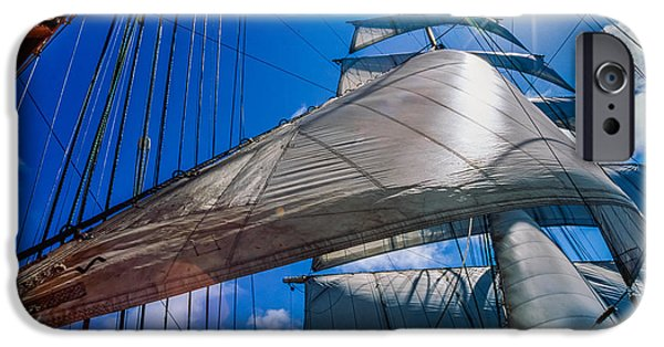 Sailboat Ocean iPhone Cases -  Sails iPhone Case by Maslyaev Yury
