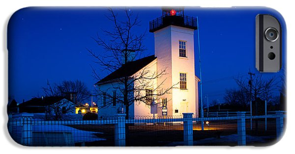 Lighthouse iPhone Cases -  Sand Point Lighthouse Escanaba  5881 iPhone Case by Norris Seward