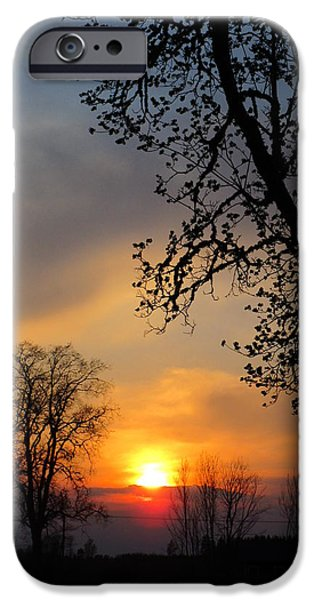 Figures iPhone Cases -  Silhouetted against the sky iPhone Case by Rosita Larsson